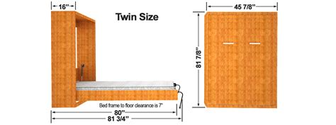 twin size bed dimensions diy murphy bed finished cabinet dims easy diy murphy bed