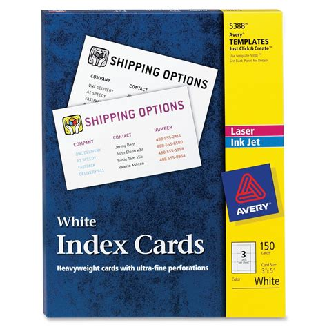 avery index card template number avery index card ld products