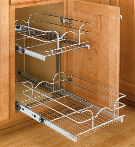 slide out cabinet organizers two tier cabinet organizer small in pull out