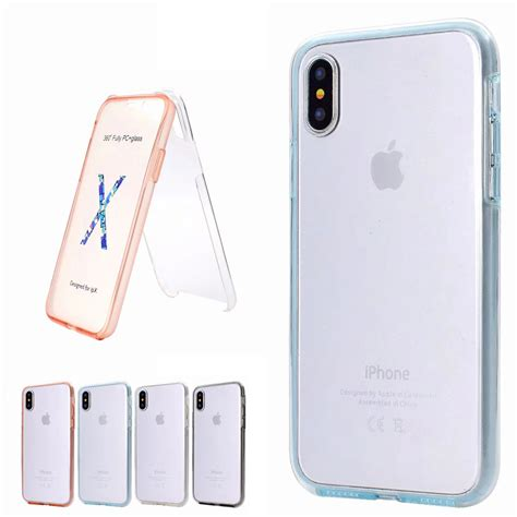 fr iphone  xr xs max ultra thin hybrid tpu  pc front  full case cover ebay