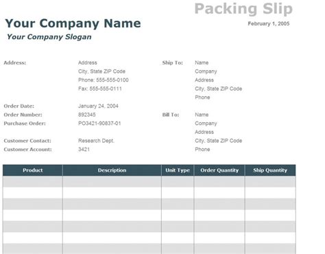 packing slip template packing slip template out of darkness