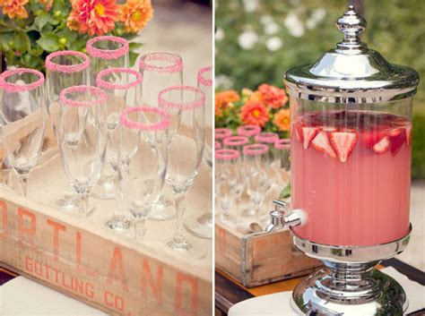 summer wedding drink station inspiration