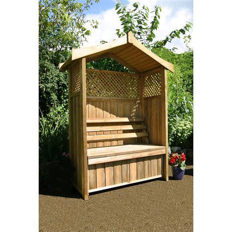 Wooden Kitchen Bench Seat B Amp M Dorset Arbour 280764 B Amp M