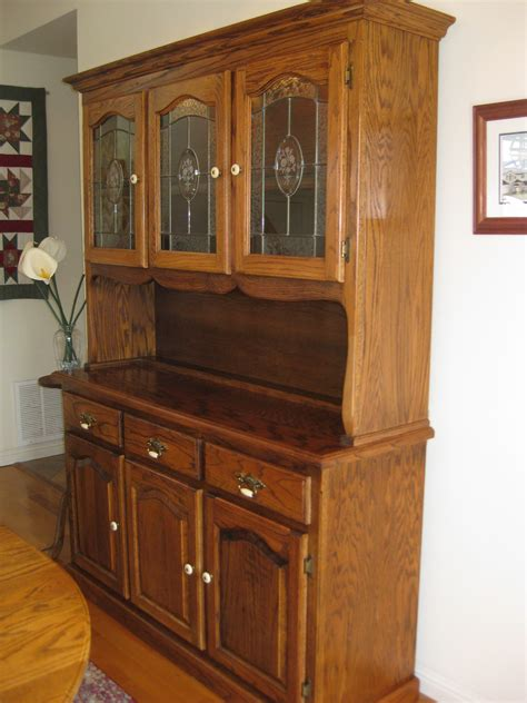 Dining Room Hutch San Diego Oak Buffet And Hutch With Glass Doors For Sale From