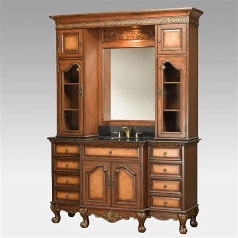 bathroom vanity with hutch royal vanity and hutch traditional bathroom vanities