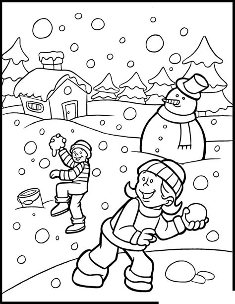 Fichas De Ingl 233 S Para Ni 241 Os Winter Coloring Pages Coloring Pages Fall Season