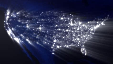map usa lights usa at with of lights loop stock footage