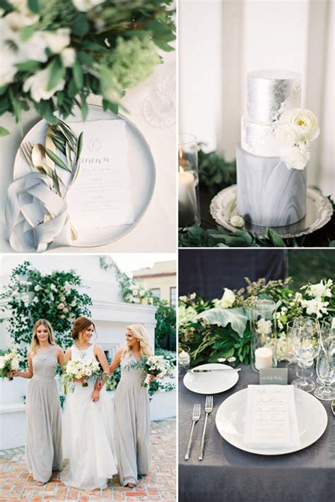 grey wedding theme wedding ideas by colour chwv