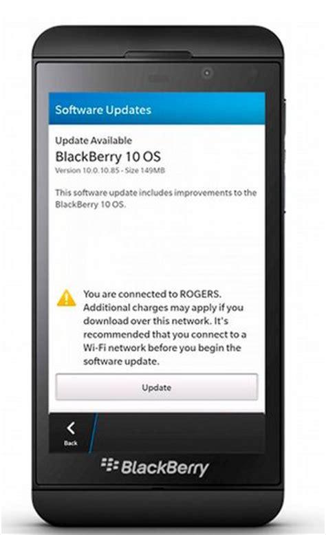 Bb Update by The Www Blackberry 10 0 10 85 Software Update