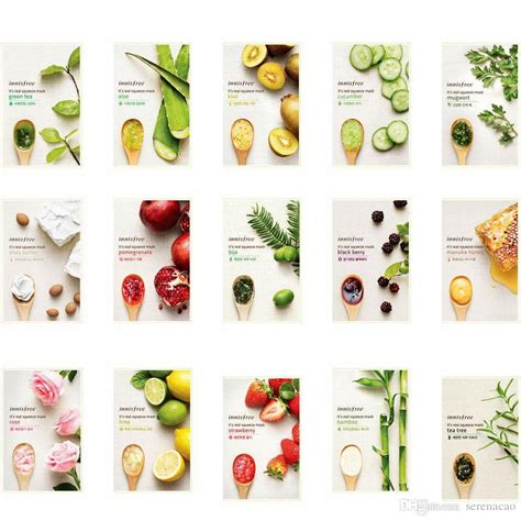 Innisfree I Ts Real Squeeze Mask innisfree it s real squeeze mask sheet 15 kinds made in