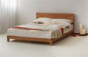 Bed Frame Rolls On Wood Floor Sonora Solid Low Wooden Beds Bed Company