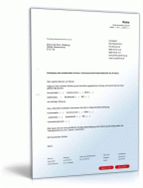 Kfz Versicherung Ndern Vorlage by Best 228 Tigung Einer K 252 Ndigung Rechtssicheres Muster Downloaden