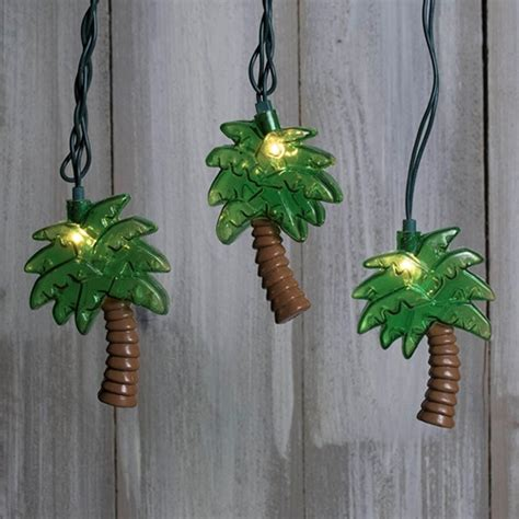 palm tree string lights string lights tropical palm trees outdoor green wire 11 ft in ebay