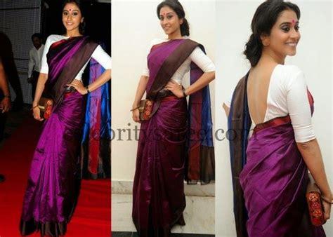 Mini Dress Kotak Dasi image result for contrast blouse for purple silk saree
