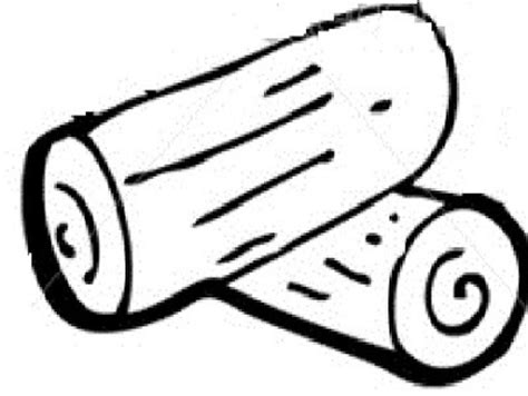 Wood Log Black And White Clipart Clipartix Log Template