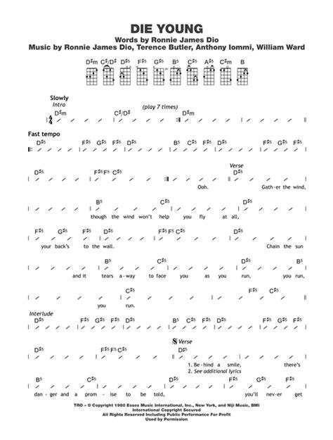 strumming pattern young volcanoes tablature guitare die young de black sabbath ukulele