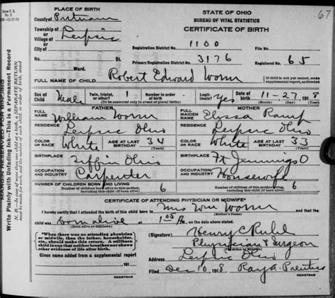 State Of Ohio Birth Records Birth Certificates Columbus Ohio Image Collections Birth Certificate Design