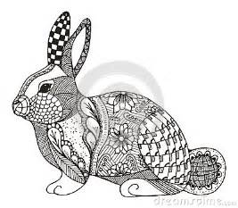 Kaninchen Zentangle Stilisiert Vektor Abbildung Bild