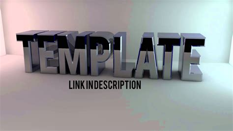 cinema 4d animation templates cinema 4d text template