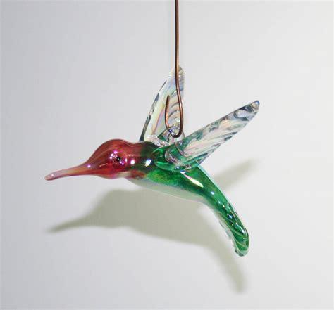 homemade hummingbird ornaments blown glass hummingbird ornament suncatcher forest