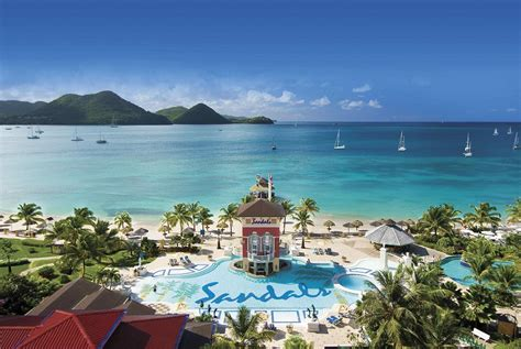 sandals grand st lucia travel 2 the caribbean personified lagoon