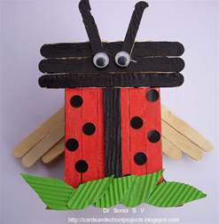popsicle stick crafts recycling ideas popsicle stick craft tutorial ladybird