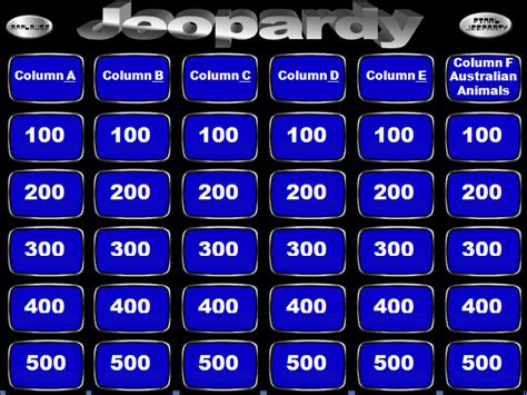 jeopardy template jeopardy powerpoint templates powerpoint templates