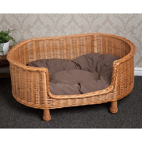 wicker beds dog wicker beds for sale uk cleo pet dog beds and