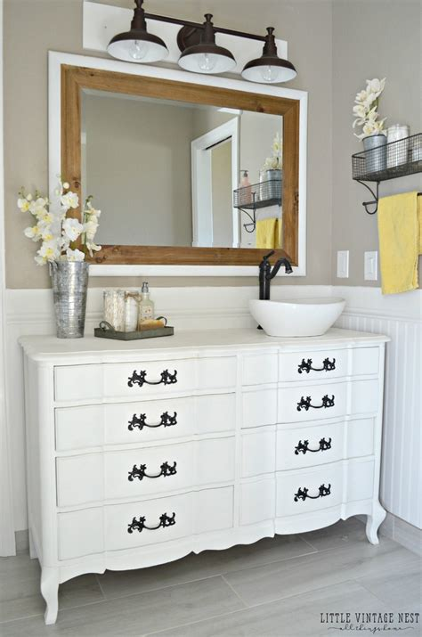 dressers made into sinks dresser turned bathroom vanity tutorial