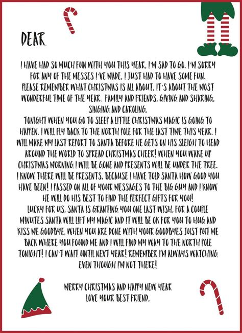 printable elf goodbye 79 best elf on the shelf images on pinterest christmas