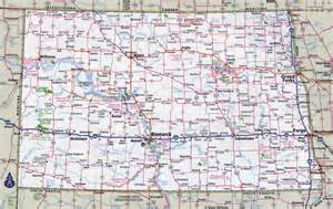 state map of with cities large detailed roads and highways map of dakota