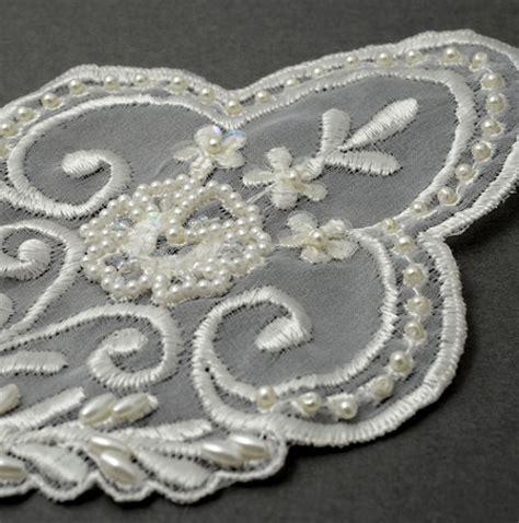 beaded lace appliques pearl beaded sequin lace applique bridal applique