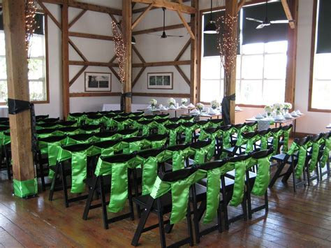 cute idea for decorating metal folding chairs!   wedding