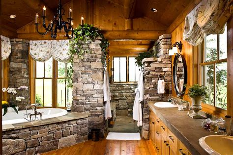 Mountain Home Bathroom Design Bathroom Designs By Rocky Mountain Log Homes Style Estate