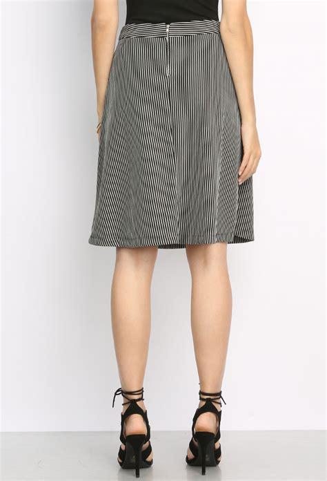 Flare Skirt Midi Excellent Quality striped flare midi skirt shop skirts at papaya clothing