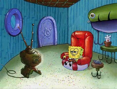 image spongebob watches tv jpg encyclopedia