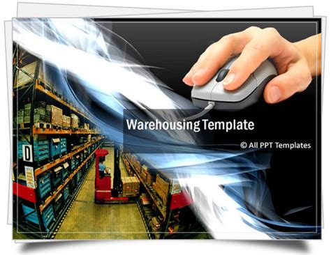 template ppt logistics free powerpoint warehouse template