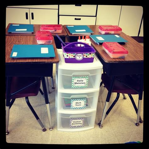 Classroom Classroom Desk Organization Ideas
