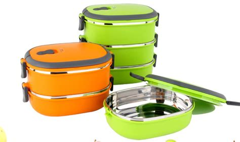Bento Plastik Kotak Plastik Food Container Lunch Box multi layer plastik dan stainless steel box tiffin bento
