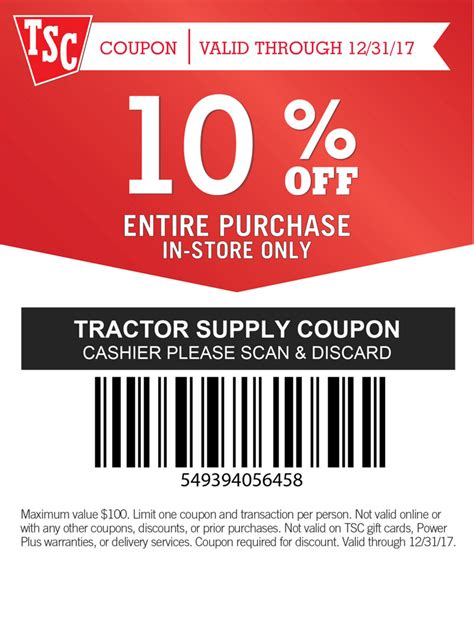tractor supply coupons 2014 printable coupons download tractor supply is now open tractor supply co