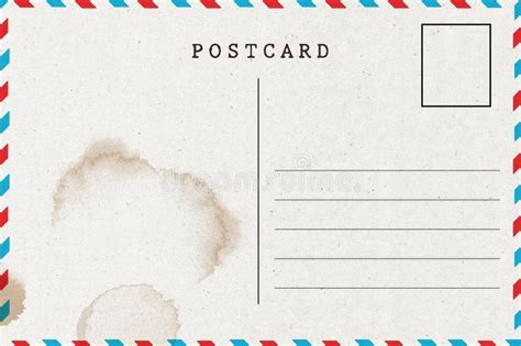 Backside Of Blank Postcard With Stain Stock Illustration Illustration Of Back Beige 75799923 Postcard Backside Template