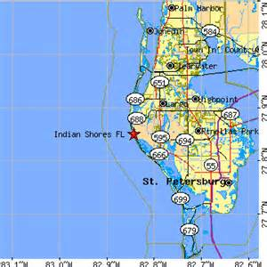 where is indian shores florida on map indian shores florida fl population data races