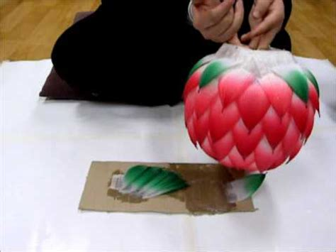 How To Make Paper Lotus Lantern - how to make a lotus lantern 2