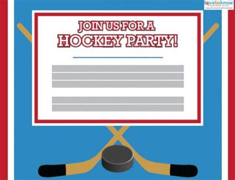 hockey birthday card template printable hockey invitations lovetoknow