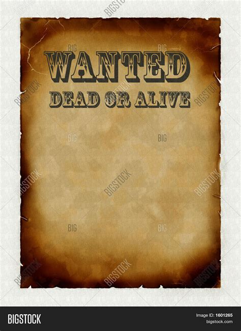 Warchild Wanted Dead Or Alive wanted dead alive image photo bigstock
