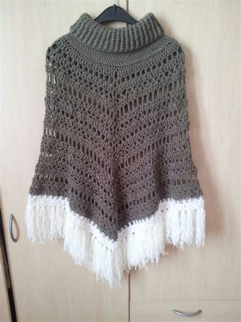 crochet poncho pattern free pinterest crochet poncho with cowl neck free poncho pattern form