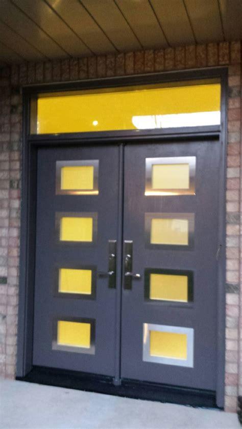 modern exterior door   door lites  stainless steel