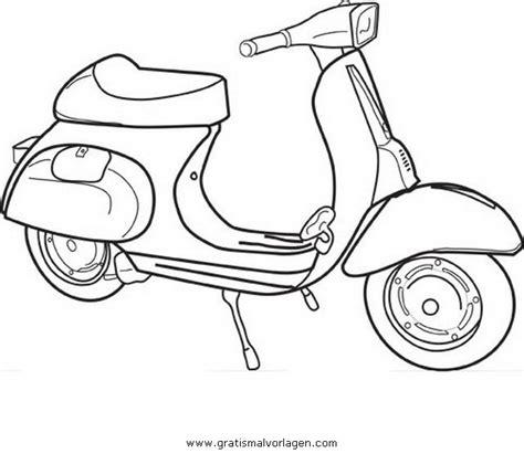 Motorrad Zum Ausmalen by Vespa 13 Gratis Malvorlage In Motorrad Transportmittel