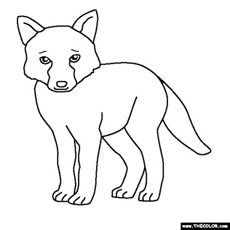 fox baby colouring pages