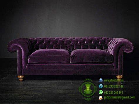 Sofa Warna Ungu sofa chester warna ungu model terbaru jati pribumi